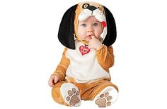 Your little one will be the cutest pup at the park in this Infant Puppy Love Costume. This baby animal costume makes a great first Halloween costume idea! Baby Puppy Costume, Puppy Costume For Kids, Baby Animal Costumes, Cute Baby Halloween Costumes, Halloween Bebes, Baby Costumes For Boys, Toddler Costumes, First Halloween, Infant Halloween