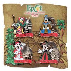 Your WDW Store - Disney Holidays Around The World Pin - 2012 Four Pin Set