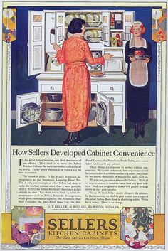 1920s •~• Sellers Kitchen Cabinets advertisement