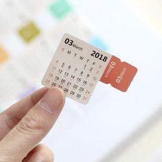 Sinnvoll 4 Blätter Handschrift Notebook Kraft Papier Kalender Label Schreibwaren Veranstalter Index Aufkleber #4 Office & School Supplies Kalender