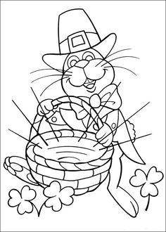 Peter Cottontail Kleurplaten voor kinderen. Kleurplaat en afdrukken tekenen nº 14