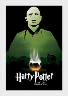 Cálice de Fogo - Harry Potter - Livros | Posters Minimalistas