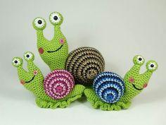 Crochet lumache