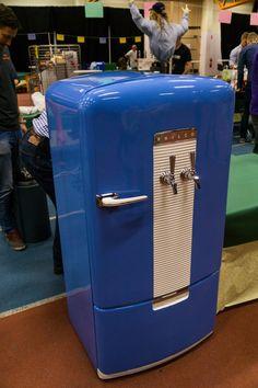vintage kegerator Vintage Fridge, Vintage Refrigerator, Beverage Refrigerator, Beer Fridge, Mini Fridge, Refrigerator Decoration, Painted Fridge, Beer Keg, Old Gas Stations