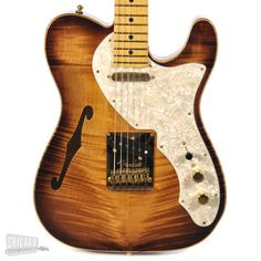Fender American Select Telecaster Thinline with Birdseye Maple neck and Gold Hardware Violin Burst