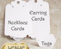 ZOE Earring Card and Tag SetJewelry cardsEarring by JulryPartZ