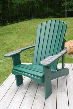 Standard Adirondack chair with tartan arms  #faircapewoodworks