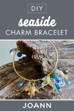 This  DIY Seaside Charm Bracelet is sure to be your favorite piece in your jewelry box! Click here to learn how to make this cute and beginner-friendly craft from JOANN.