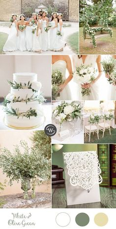 simple and elegant white and olive branch wedding colors for 2017 wedding colors september / fall color wedding ideas / color schemes wedding summer / wedding in september / wedding fall colors Wedding 2017, Wedding Themes, Our Wedding, Wedding Decorations, Trendy Wedding, Wedding Cakes, Wedding Dresses, Bridesmaid Dresses, Camp Wedding