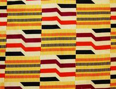 African Fabric 1/2 Yard Cotton YELLOW BURGUNDY ORANGE Black Kente Print. etsy.