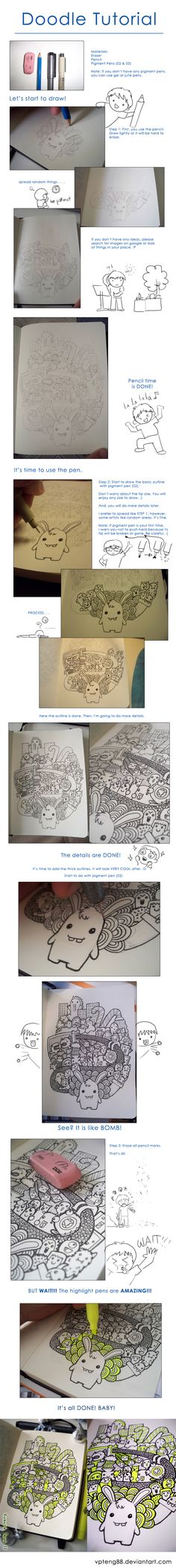 Doodle Tutorial by vicenteteng.deviantart.com on @deviantART | nice tutorial!