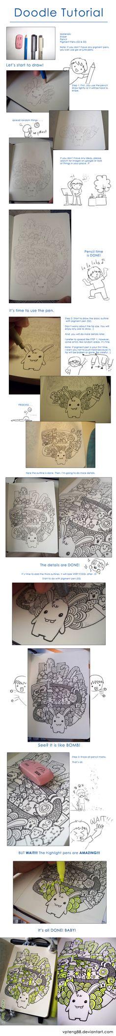 Doodle Tutorial by vicenteteng.deviantart.com on @deviantART | nice tutorial!