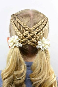 Woven Braids & Twists Babes In Hairland Little Girl Hairstyles Babes Braids Hairland Twists Woven Girl Hair Dos, Baby Girl Hair, Hair Girls, Hair Day, New Hair, Natural Hair Styles, Short Hair Styles, Mermaid Braid, Braids With Weave