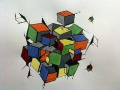 Rubik's Cubism by ReverendBonobo on DeviantArt