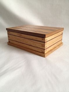 Mens valet box jewellery box jewelry box by WonderfullyWoodenUk