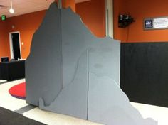 Use the Pink Insulation foam boards for set backdrops!!! So easy to cut and shape to anything you can think of!