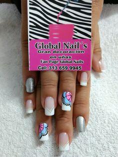Uñas Pretty Nails, Nail Designs, Nail Art, Dani, Makeup, Amanda, Stylish, Nail Bling, Work Nails