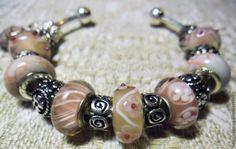 Купить Нежность Валентинка Браслет Пандора 14 - розовый, пандора, пандора стиль, пандора браслет