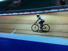 "Our intrepid reporter Lucy Kinder takes to the Manchester Velodrome with members of the Team GB cycling team. She describes the experience as ""utterly terrifying""."