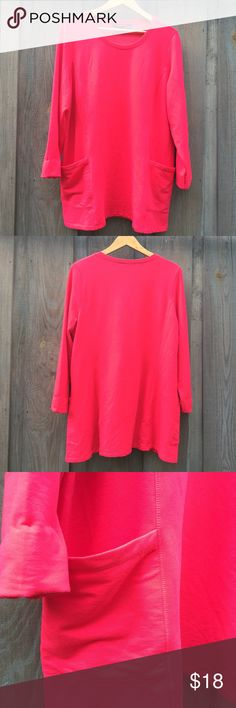 Super comfy NWOT Long sleeve tunic length top This is the so soft! Beautiful new with out tags too big for me since losing weight. Any questions please ask! Fits true to size this is an oversized sweater Susan Graver Tops Sweatshirts & Hoodies