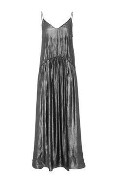 Jill Stuart Tati Metallic Pleated Dress