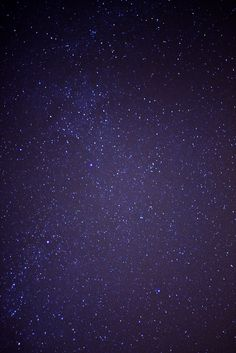 Stars in the night sky are so bright away from the city lights