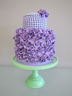 ruffles and pearls cake