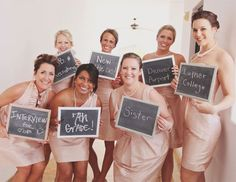 bridesmaids holding