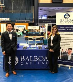 Kevin, our Manager of Sales Planning, and Mary, one of our Corporate Recruiters, at the UC Santa Barbara 2017 Spring Career and Internship Fair #ucsantabarbara #spring #careerfair #santabarbara #california #careers #jobs #finance #balboacapital