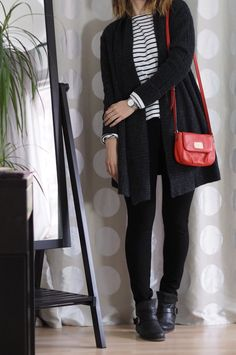 Striped-Shirt-Cardigan-Outfit-Winter-2017