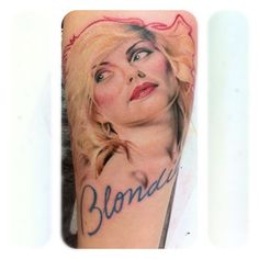 Rockin #Blondie Tattoo in progress By Samantha Ford from Silver Needles