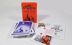 Vintage Gypsy Witch Card Deck  Halloween  by UrbanRenewalDesigns, $15.00