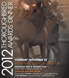CANADIAN THOROUGHBRED HORSE SOCIETY OF BRITISH COLUMBIA - Thoroughbred racing and breeding