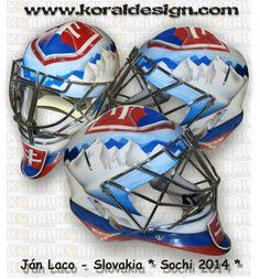 Jan Laco 2014 Sochi Olympic mask ( Slovakia )