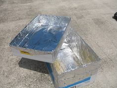 Quick solar oven from a cardboard box