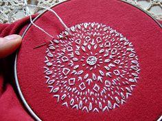 Stitching on Red