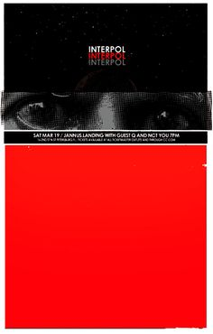 GigPosters.com - Interpol - Q And Not U