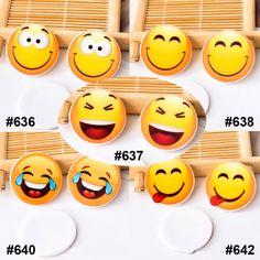 50pcs/lot Mixed Japanese Cartoon Emoji Flatback Resin Kawaii Smile Face Planar Resin Craft for DIY Home Decoration Accessories