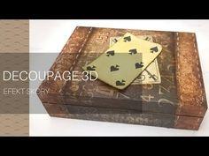 Decoupage 3D i efekt skóry - łatwe cieniowanie bitumem - YouTube