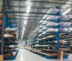 #CantileverRacks provides a simple solution to storing awkward or large items. Used in storing anything from lumber, tubing or drywall we can find the rack to fit your needs.