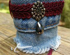 Upcycled Denim Bracelet by DenimReDooz on Etsy