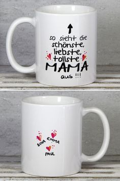Individual Day gift: with saying for The back of the mug will be personalized with your name. A nice gift idea for # Mother's Day / gift idea for # mother's day: with cute statement and your names. Cup for made by My_SweetHea Fun Valentines Day Ideas, Valentines Day Wishes, Valentines Day Gifts For Him, Mother Day Gifts, Gifts For Mom, Diy Gifts, Best Gifts, Anniversary Decorations, Cute Cups
