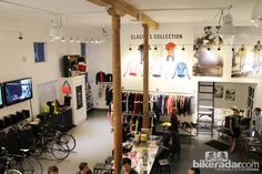 Rapha Cycle Club in San Francisco - open, clean design Rapha Cycle Club, Cycling Suit, Bike Room, Bicycle Shop, Bike Photo, Space Furniture, Clean Design, Store Design, Shop Ideas