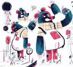 The scary bear by Jose Ignacio Molano Silván Mol, via Behance