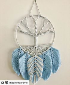 My morning is looking pretty bloody good 🙌❤️ last little touches to this piece that I'm re-naming to 'Diamonds & Pearls'. Macrame Wall Hanging Diy, Macrame Art, Macrame Projects, Diy Resin Crafts, Diy Arts And Crafts, Yarn Crafts, Crochet Feather, Dream Catcher Decor, Yarn Wall Art