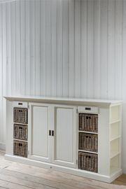 Rivièra Maison Dresser, Flat Screen, Garage Doors, Shelves, House Design, Cabinet, Interior Design, Storage, Outdoor Decor