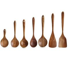 Teak Wooden Utensil Set - Tilly Living Cooking Utensils Set, Kitchen Utensil Set, Cooking Spoon, Kitchen Items, Kitchen Tools, Kitchen Gadgets, Wooden Spatula, Wooden Spoons, Kitchenware Set