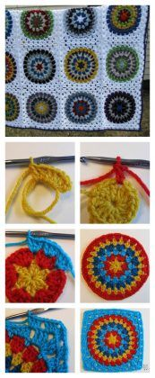 Squaring the Big Circle Free Crochet Patten and Tutorial