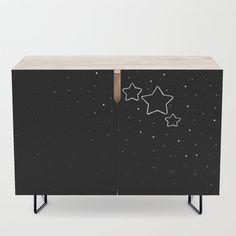 Star Trio - Black & White Credenza