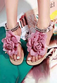 Pink Flat Sandals  from sniksa